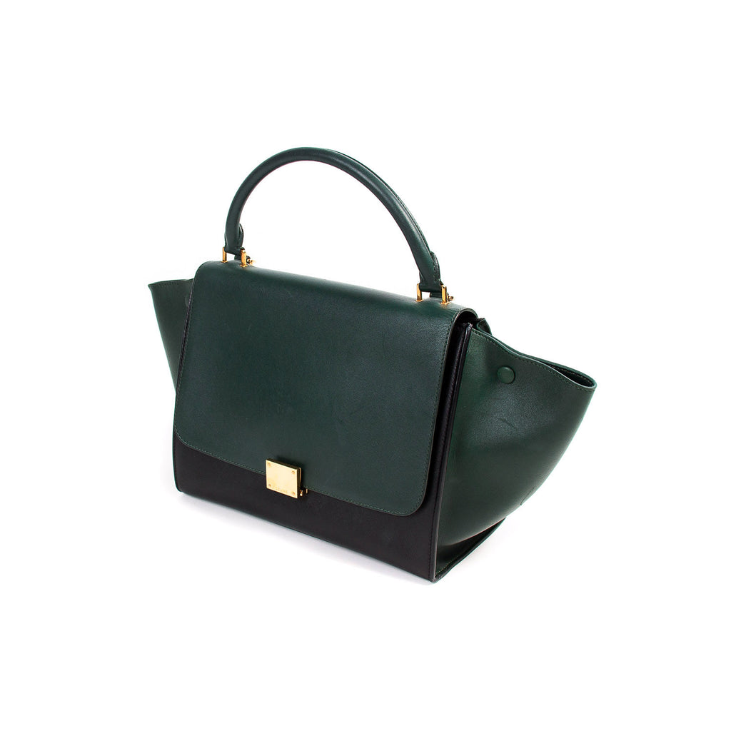 Celine Bi-Color Medium Trapeze Bag Bags Celine - Shop authentic new pre-owned designer brands online at Re-Vogue