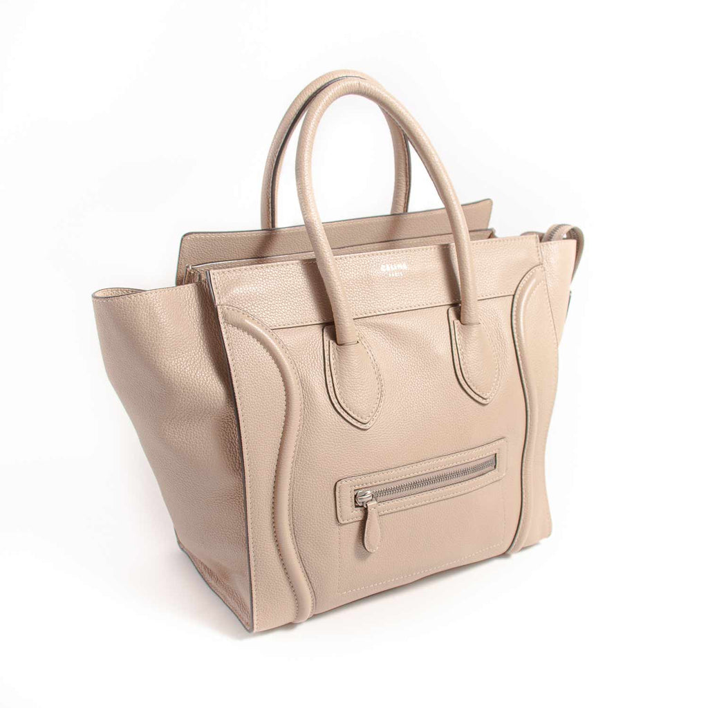 Celine Mini Luggage Grey Tote Bag Bags Celine - Shop authentic new pre-owned designer brands online at Re-Vogue