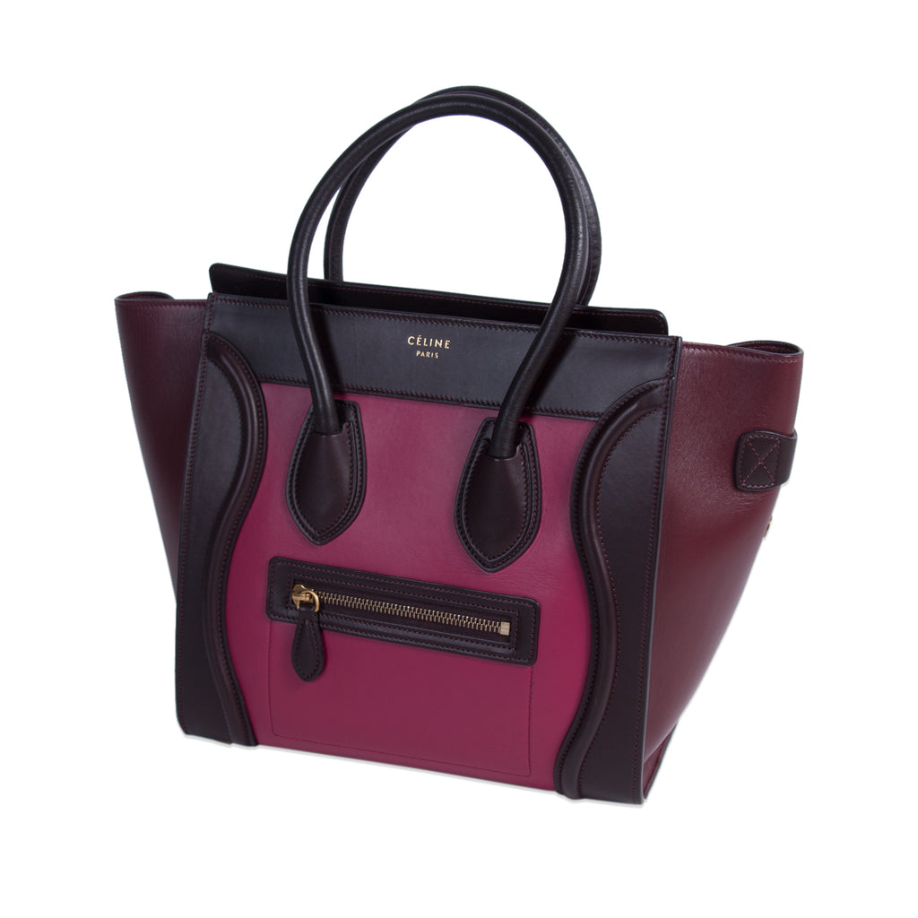 9e4b3ad652 ... Celine Tricolor Micro Luggage Tote Bag Bags Celine - Shop authentic new  pre-owned designer ...