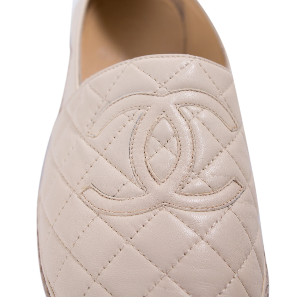 Chanel Quilted Lambskin Leather Espadrilles Shoes Chanel - Shop authentic new pre-owned designer brands online at Re-Vogue
