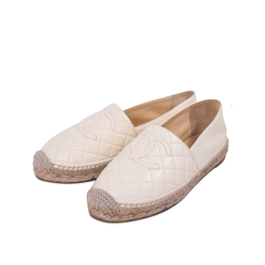 17104a6fc4f Shop authentic Chanel Quilted Lambskin Leather Espadrilles at ...