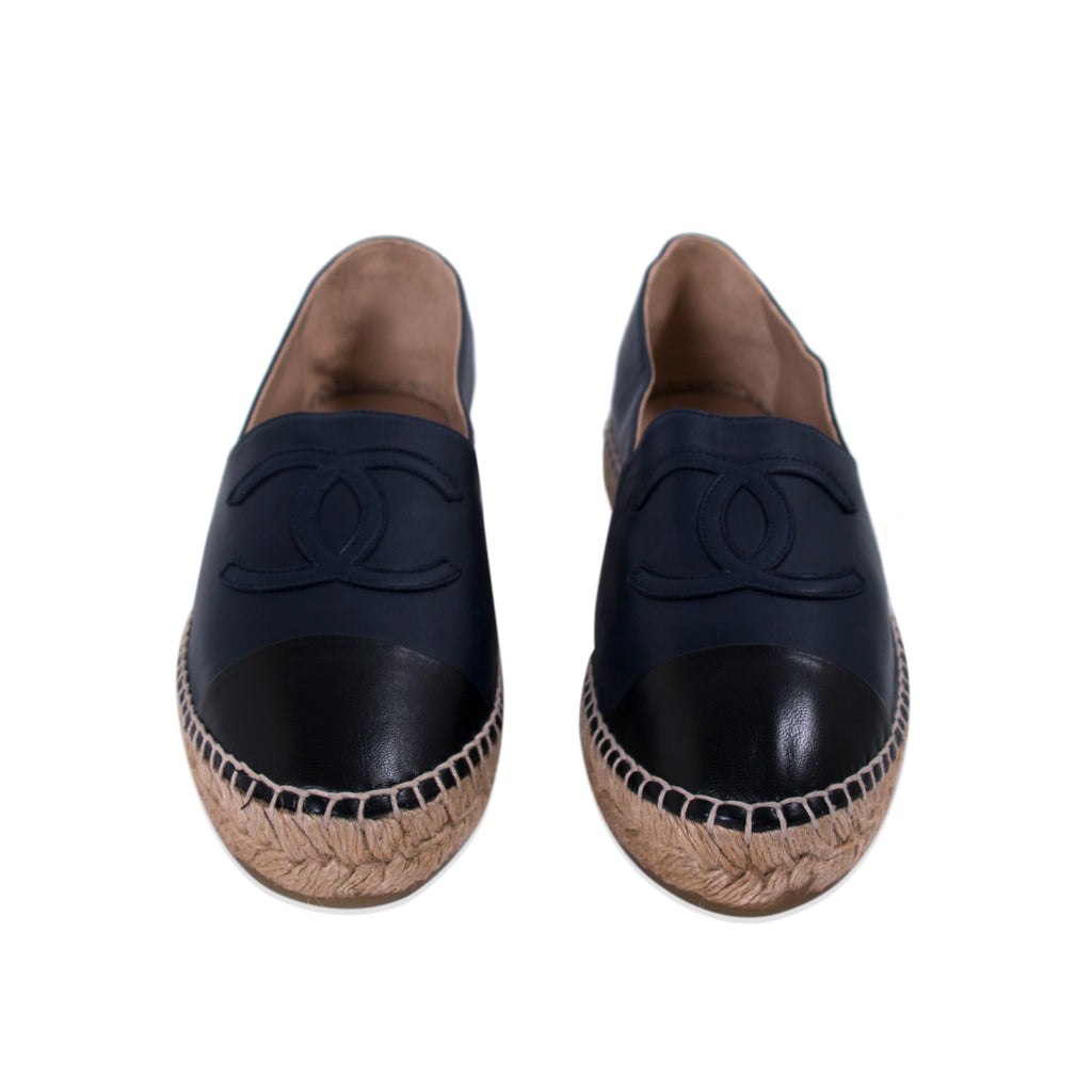 Chanel Lambskin Leather CC Espadrilles Shoes Chanel - Shop authentic new pre-owned designer brands online at Re-Vogue