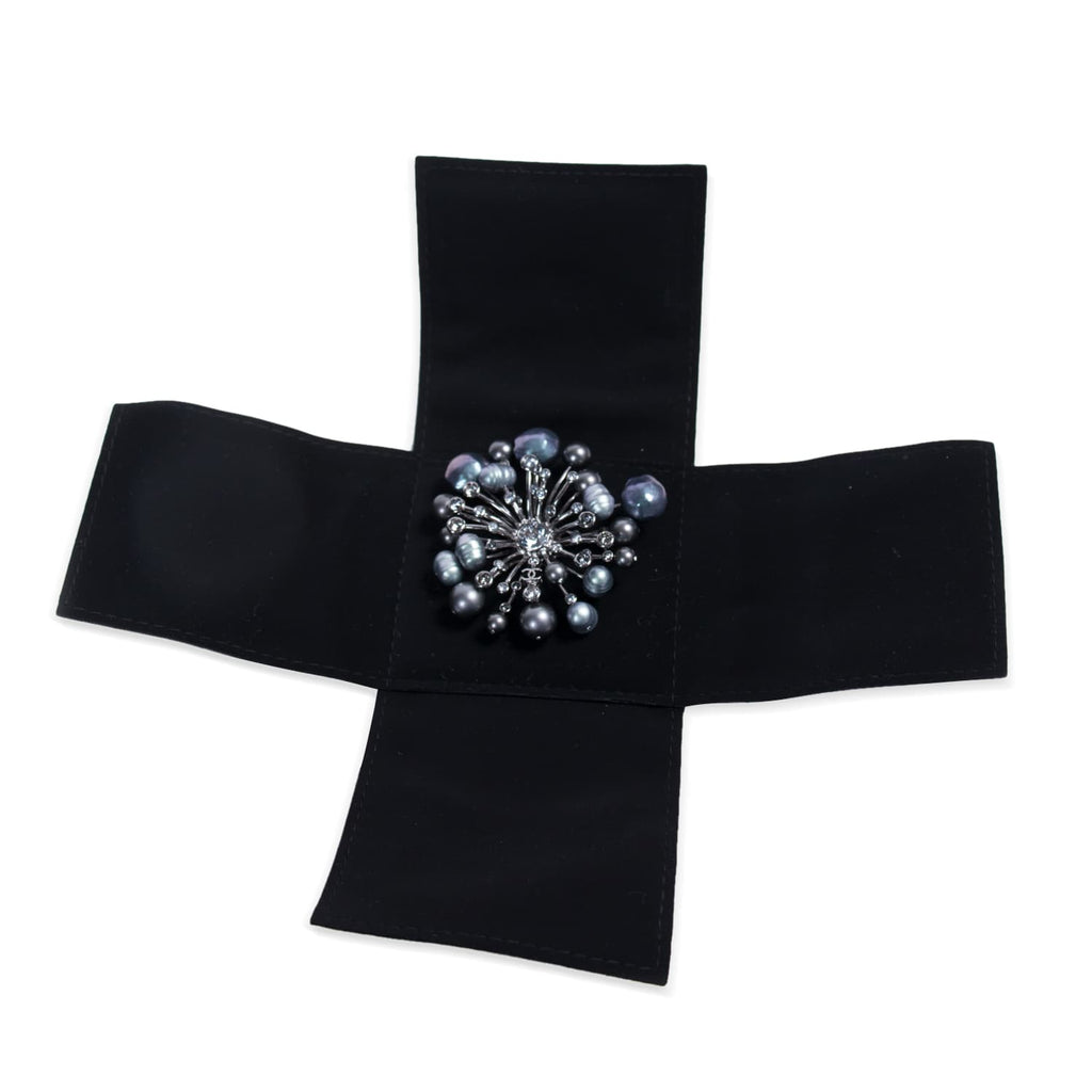 Chanel Gunmetal Crystal Brooch Accessories Chanel - Shop authentic new pre-owned designer brands online at Re-Vogue