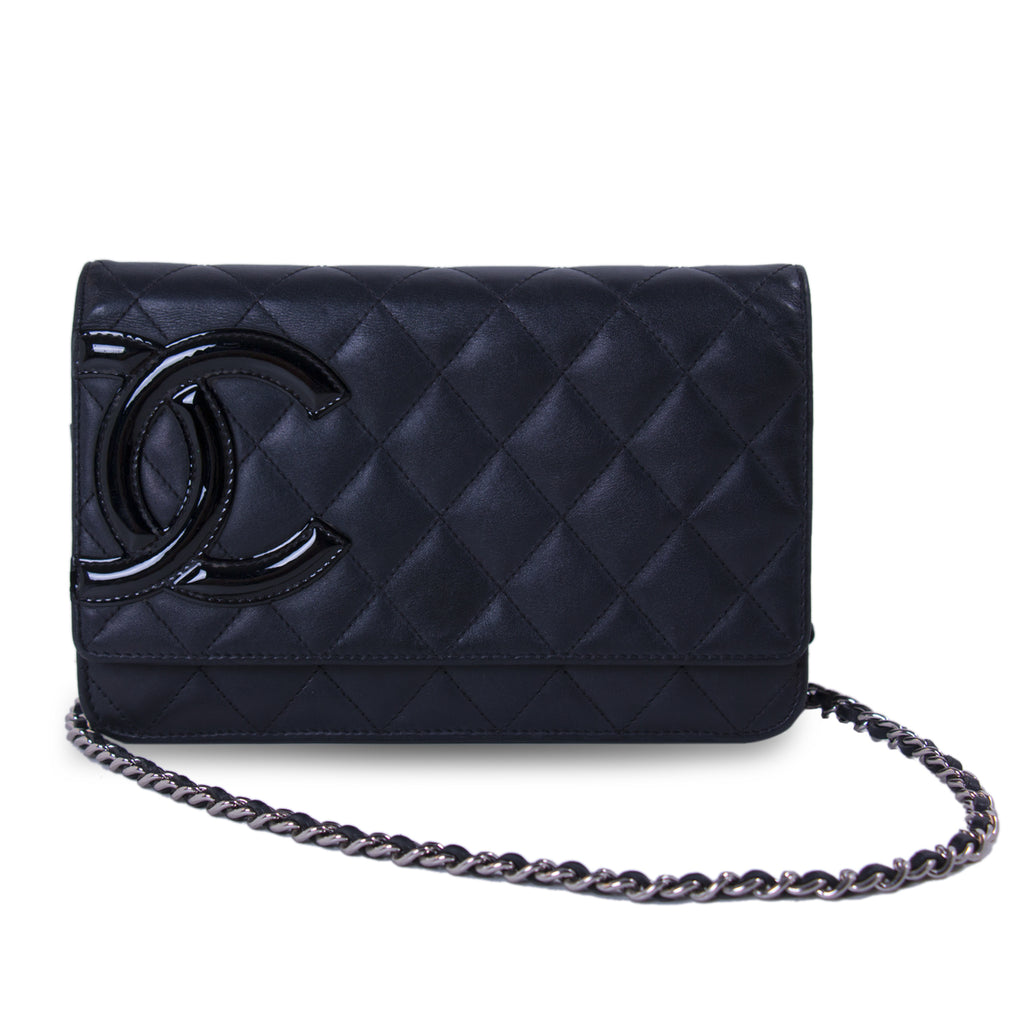 b5552a6c8b7a Shop authentic Chanel Cambon Black Wallet on Chain at revogue for ...