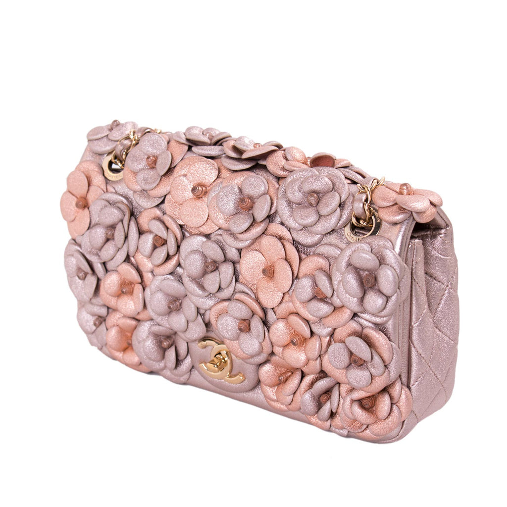 Chanel CC Camelia Embellished Flap Bag Bags Chanel - Shop authentic new pre-owned designer brands online at Re-Vogue