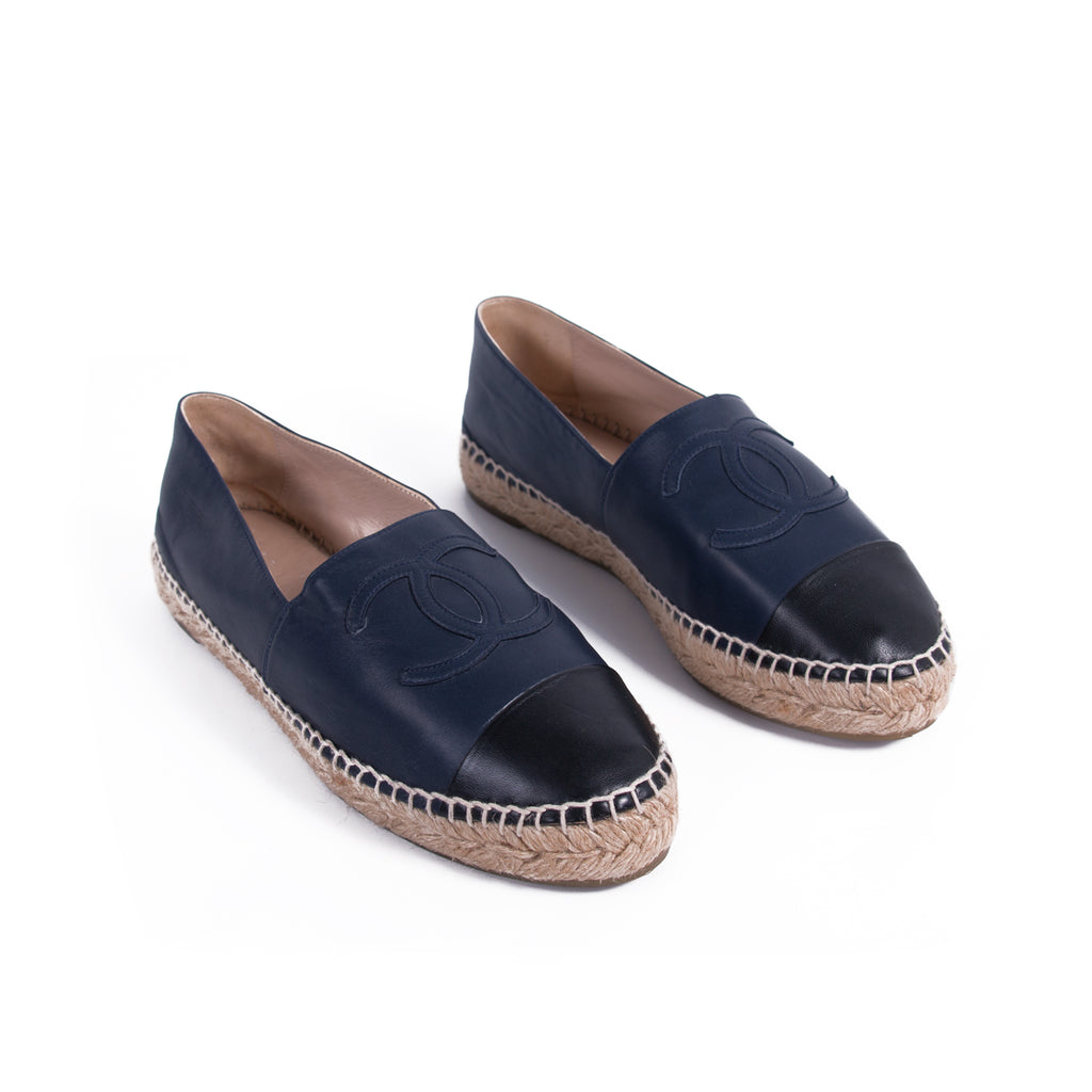 4d2f41cb320 ... Chanel Lambskin Leather CC Espadrilles Shoes Chanel - Shop authentic  new pre-owned designer brands ...