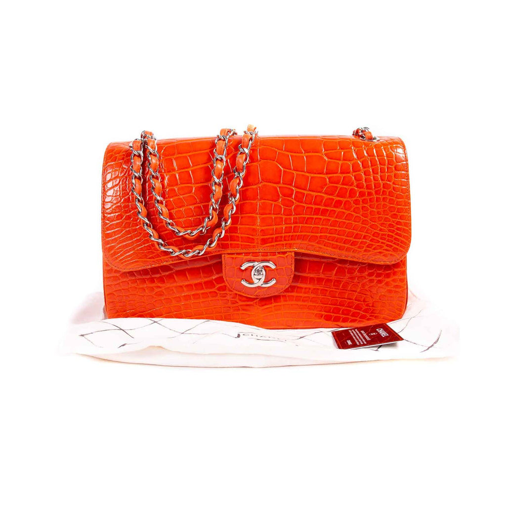 Chanel Classic Crocodile Jumbo Double Flap Bag Bags Chanel - Shop authentic new pre-owned designer brands online at Re-Vogue