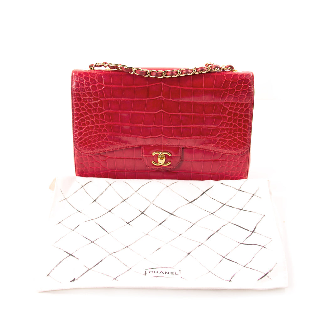 Chanel Classic Crocodile Jumbo Single Flap Bag Bags Chanel - Shop authentic new pre-owned designer brands online at Re-Vogue