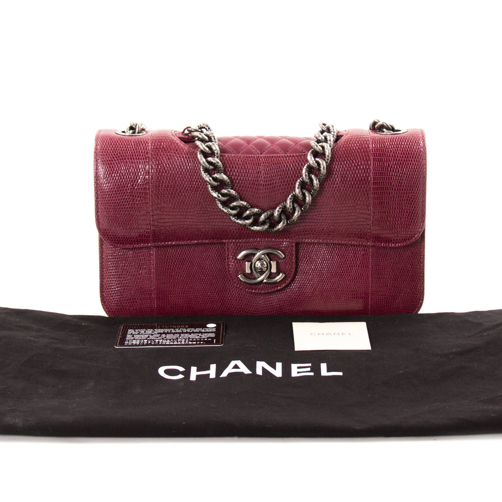 efcac432fd2c ... Chanel Lizard Perfect Edge Double Flap Bag Bags Chanel - Shop authentic  new pre-owned ...