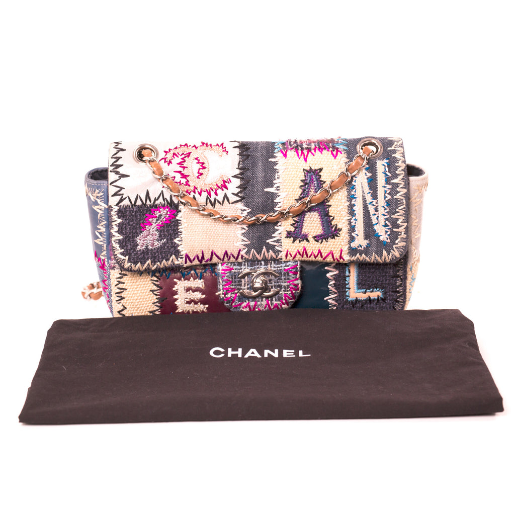 Chanel Classic Denim Patchwork Medium Flap Bag Bags Chanel - Shop authentic new pre-owned designer brands online at Re-Vogue
