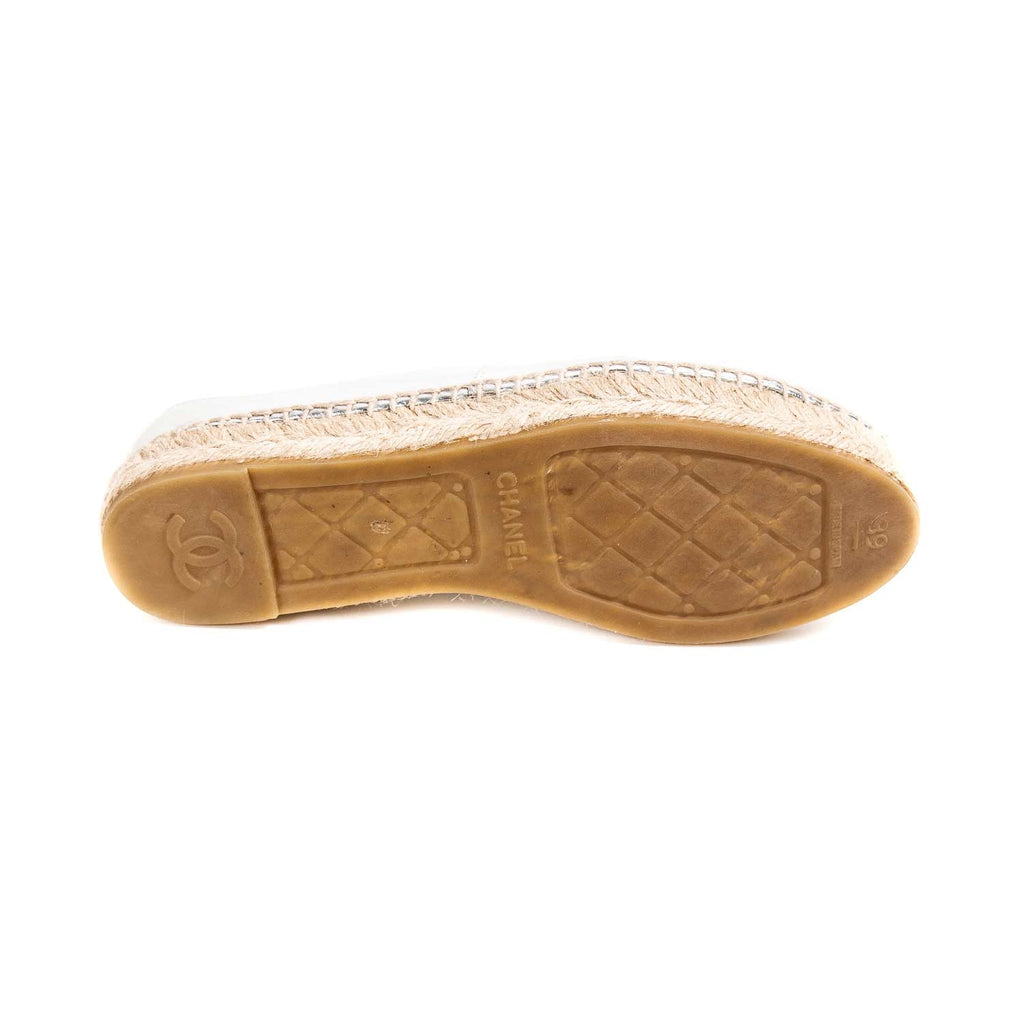Chanel Metallic Leather CC Espadrilles Shoes Chanel - Shop authentic new pre-owned designer brands online at Re-Vogue