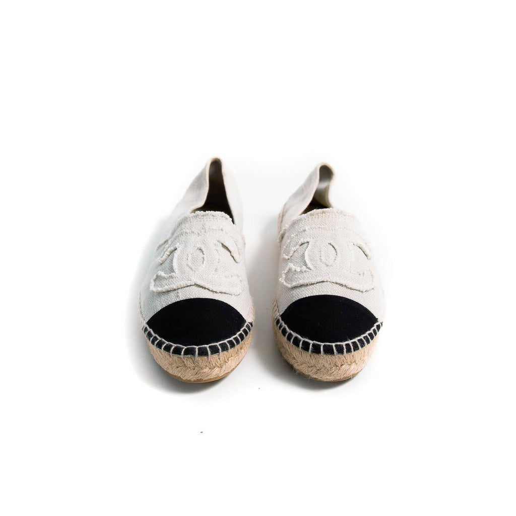 Chanel CC Canvas Espadrilles Shoes Chanel - Shop authentic new pre-owned designer brands online at Re-Vogue