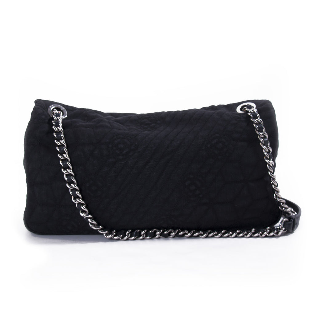 Chanel Stitched Camelia Jersey Flap Bag Bags Chanel - Shop authentic new pre-owned designer brands online at Re-Vogue