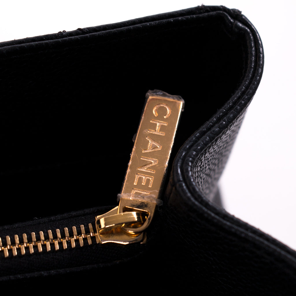 Chanel Black Caviar Grand Shopping Tote Bag Bags Chanel - Shop authentic new pre-owned designer brands online at Re-Vogue