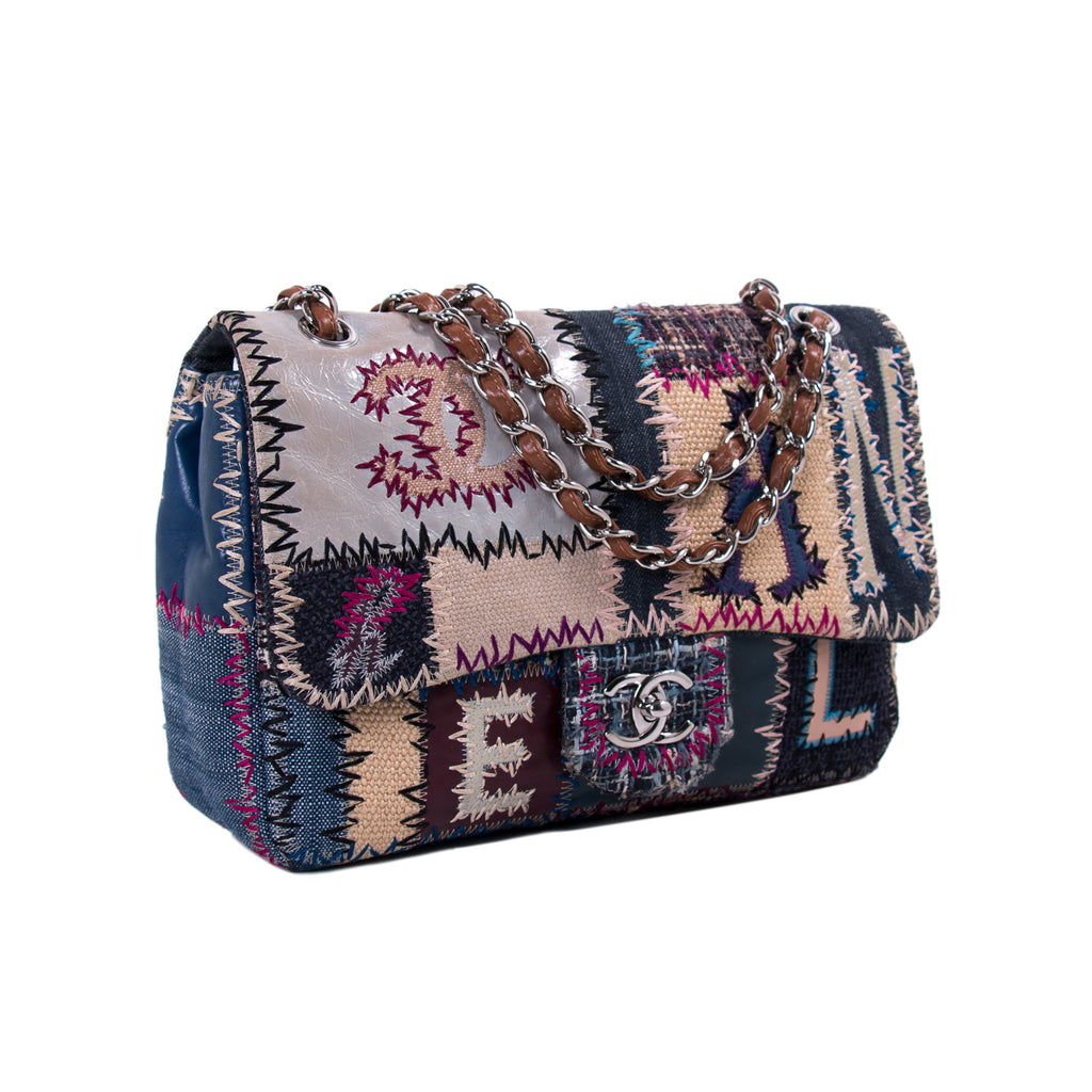 Chanel Patchwork Jumbo Single Flap Bag Bags Chanel - Shop authentic new pre-owned designer brands online at Re-Vogue