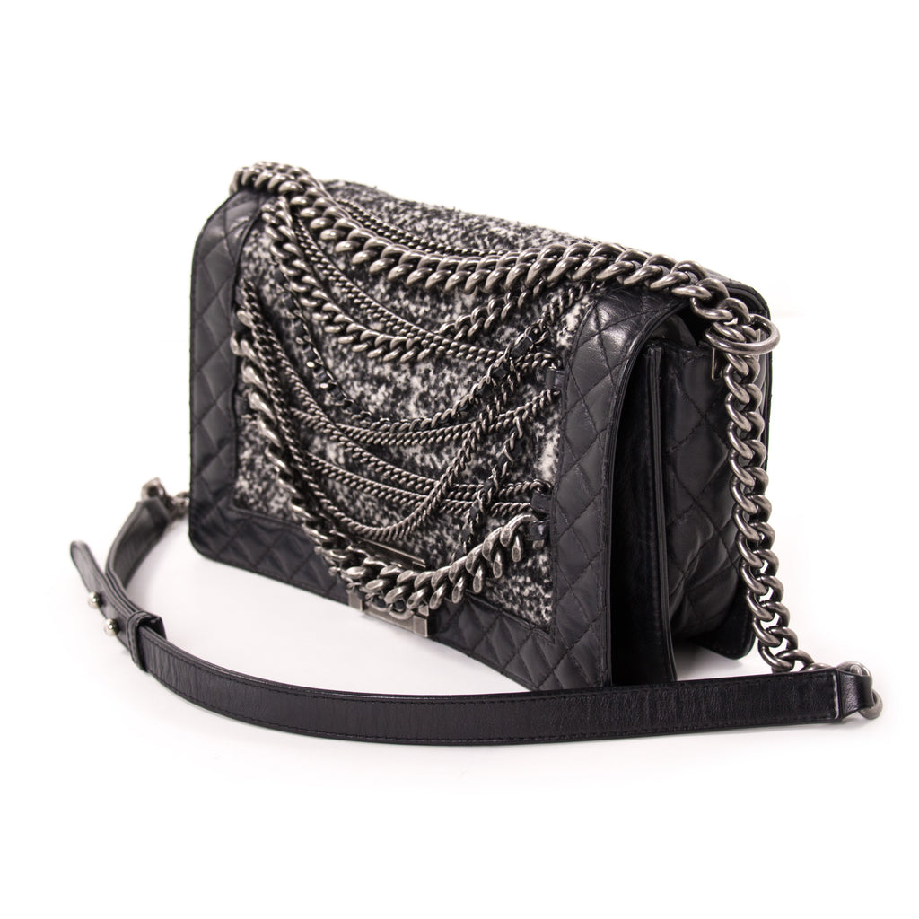 Chanel New Medium Enchained Boy Flap Bag Bags Chanel - Shop authentic new pre-owned designer brands online at Re-Vogue