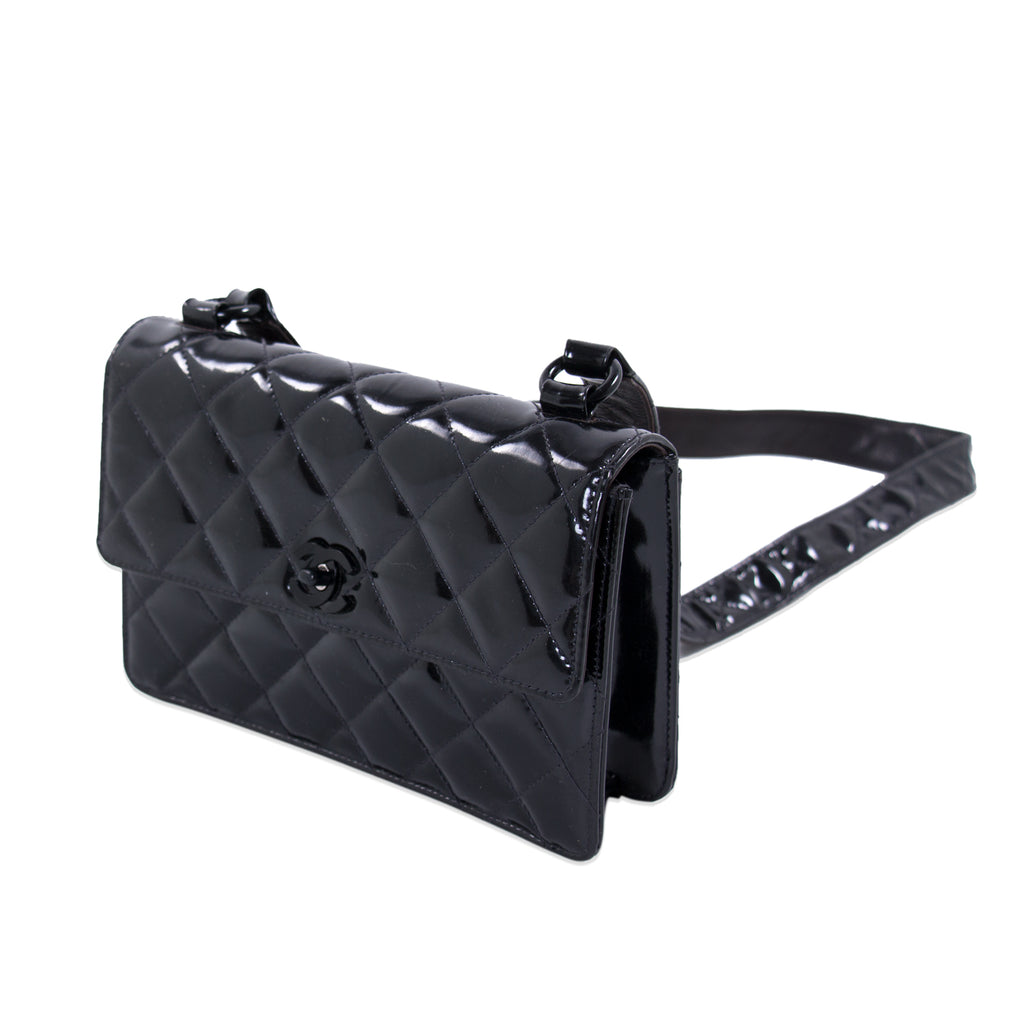 0d451bf15f4f Chanel Vintage Quilted Patent Leather Flap Bag Bags Chanel - Shop authentic  new pre-owned