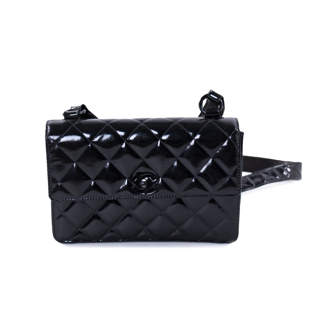 Chanel Vintage Quilted Patent Leather Flap Bag Bags Chanel - Shop authentic new pre-owned designer brands online at Re-Vogue