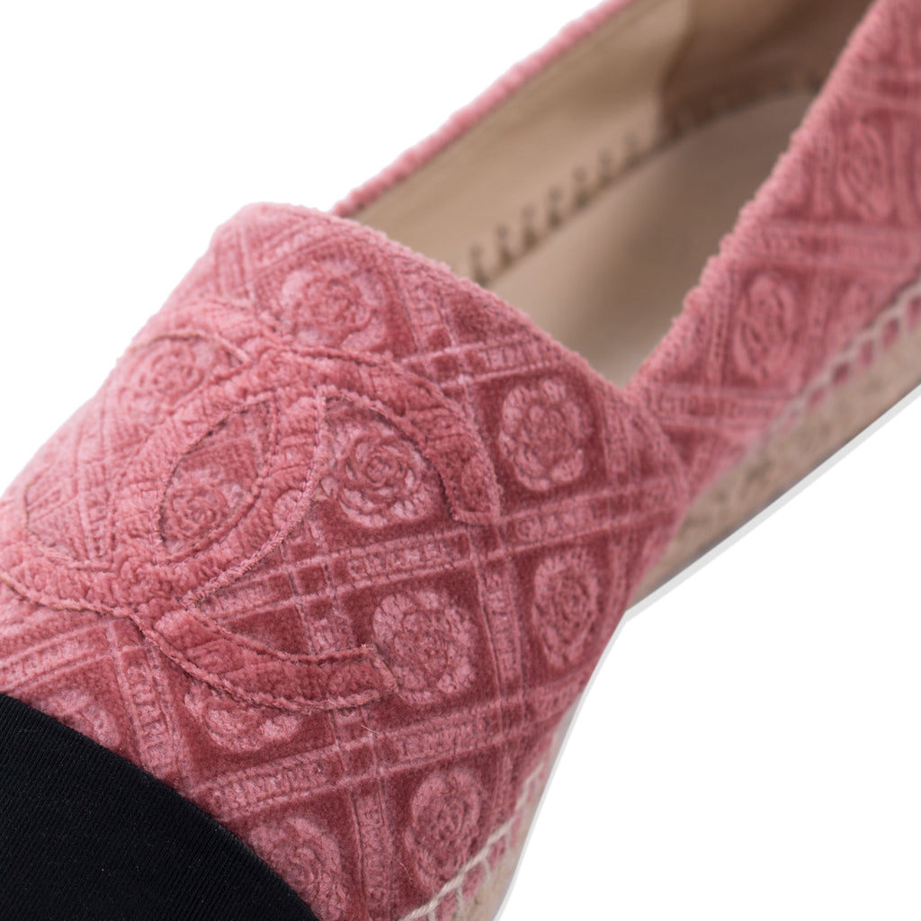 Chanel Velvet CC Espadrilles Shoes Chanel - Shop authentic new pre-owned designer brands online at Re-Vogue