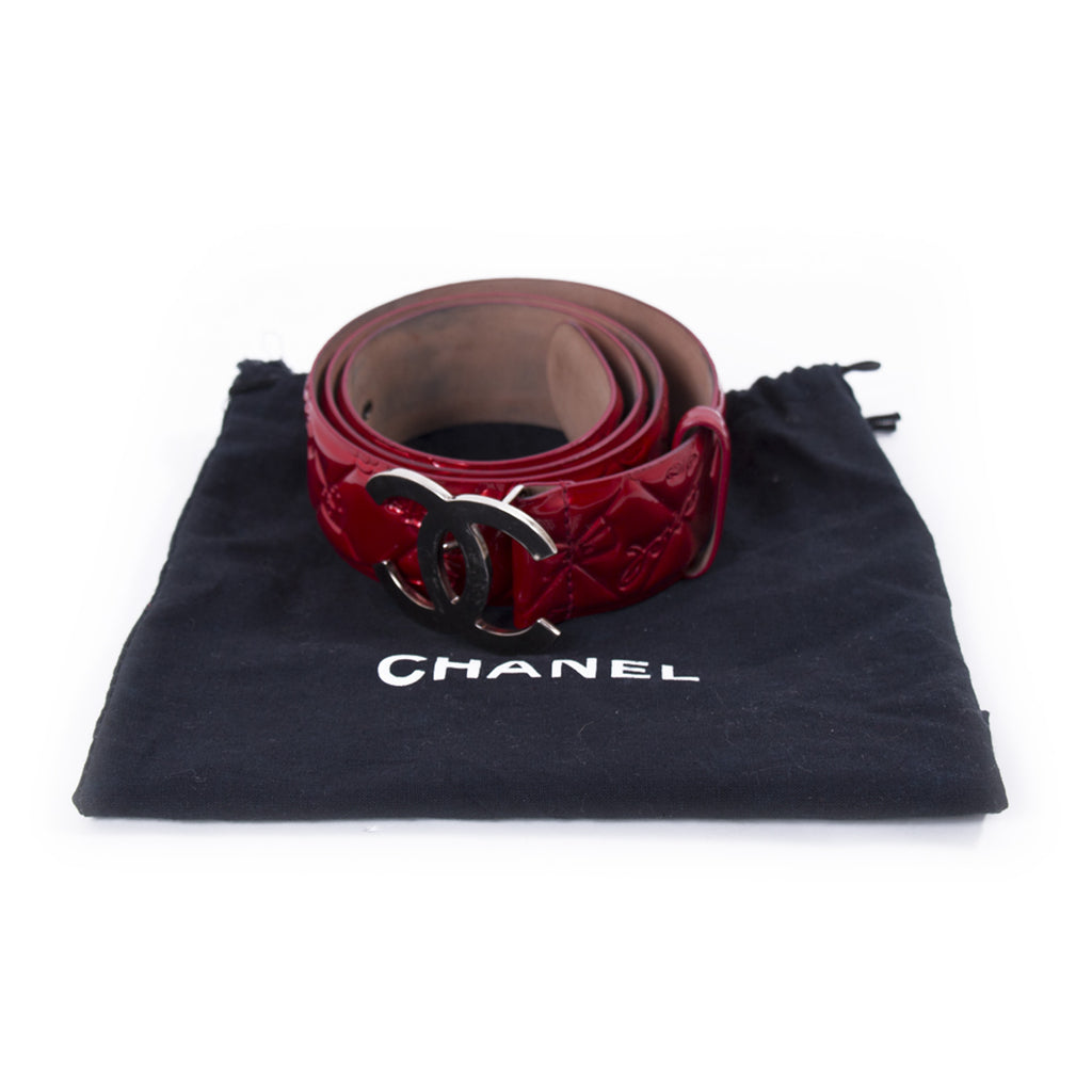 Chanel CC Quilted Patent Leather Belt Accessories Chanel - Shop authentic new pre-owned designer brands online at Re-Vogue