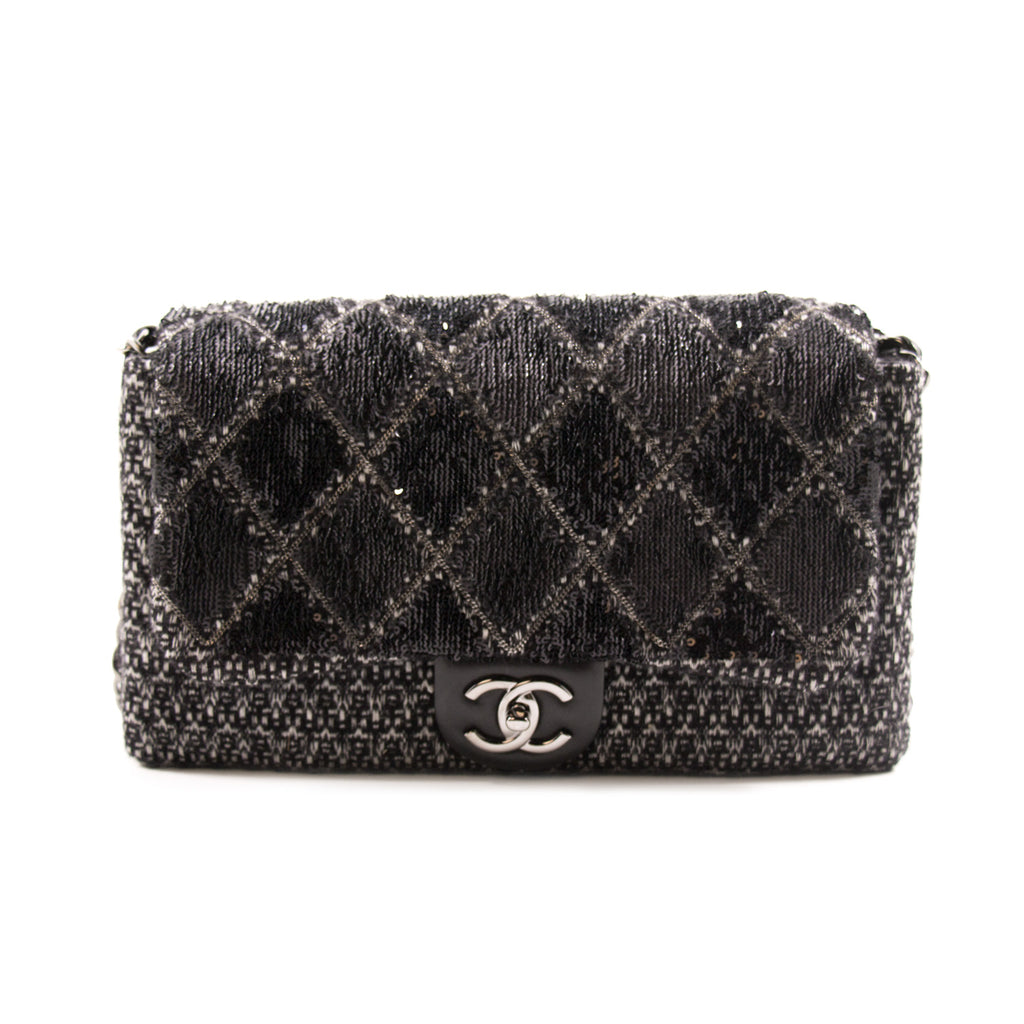 8f8a55a742e1 Chanel Sequin Tweed Flap Bag Bags Chanel - Shop authentic new pre-owned  designer brands