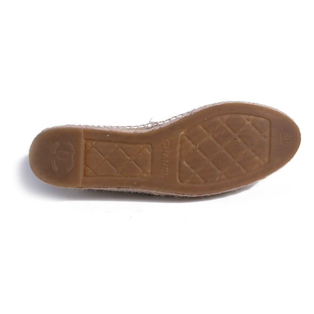 Chanel Glazed Leather CC Espadrilles Shoes Chanel - Shop authentic new pre-owned designer brands online at Re-Vogue