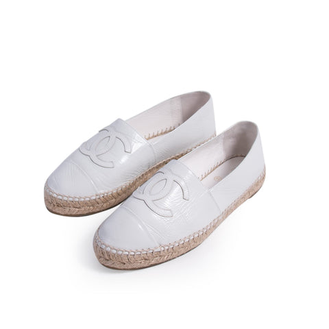 Chanel CC Canvas Espadrilles