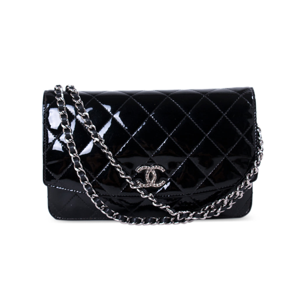 29240edb3264 Shop authentic Chanel Patent Leather Wallet on Chain at revogue for ...