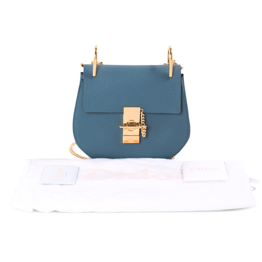 Chloé Drew Mini Leather Shoulder Bag Bags Chloé - Shop authentic new pre-owned designer brands online at Re-Vogue