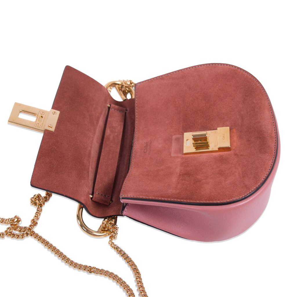 Chloé Drew Mini Leather Suede Shoulder Bag Bags Chloé - Shop authentic new pre-owned designer brands online at Re-Vogue