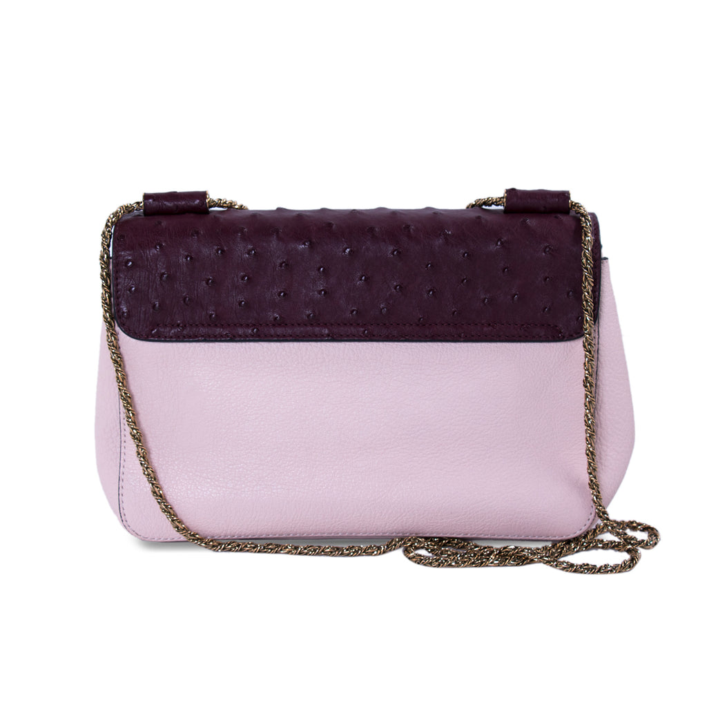 Chloé Elsie Large Ostrich Shoulder Bag Bags Chloé - Shop authentic new pre-owned designer brands online at Re-Vogue