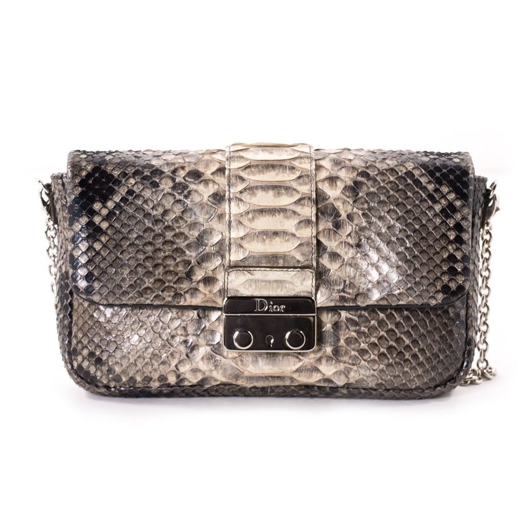 bbe1c9bc681 Shop authentic Christian Dior Miss Dior Python Flap Bag at revogue ...