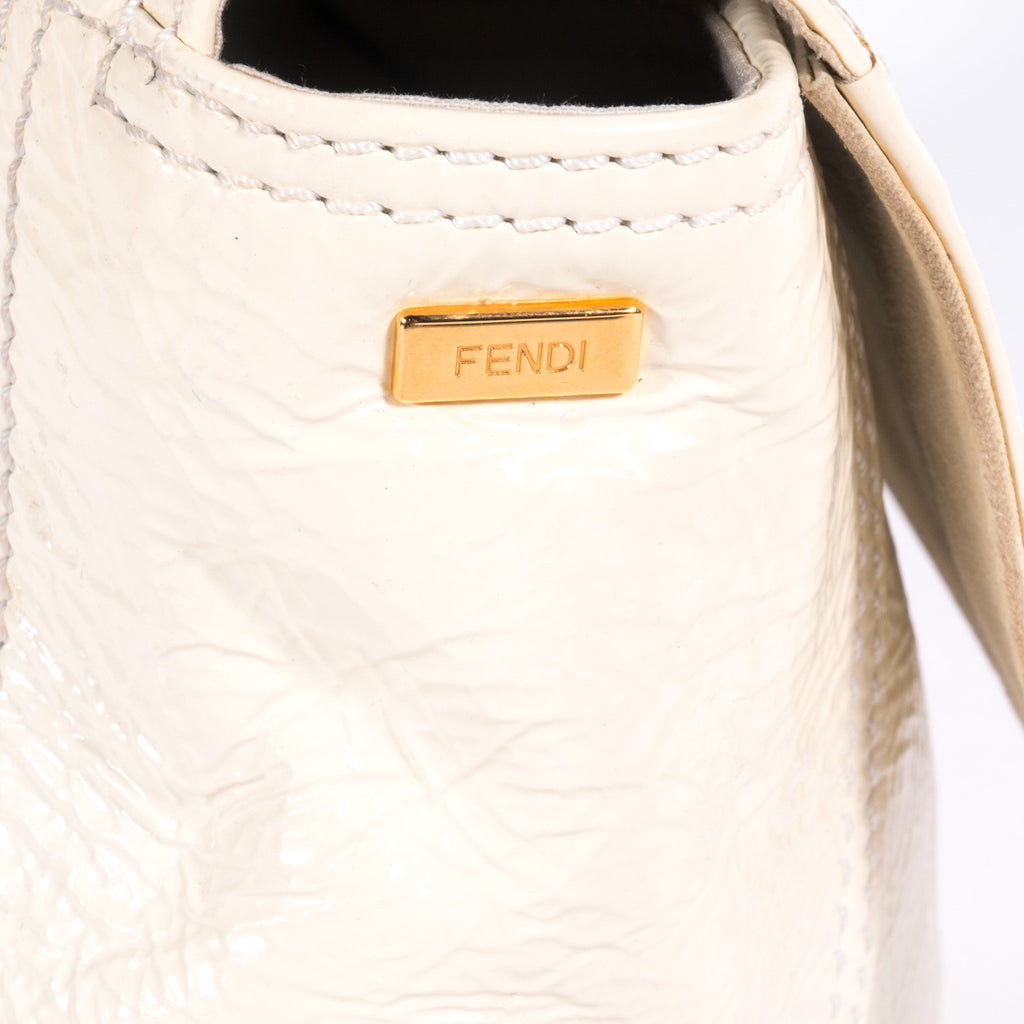Fendi White Baguette - revogue