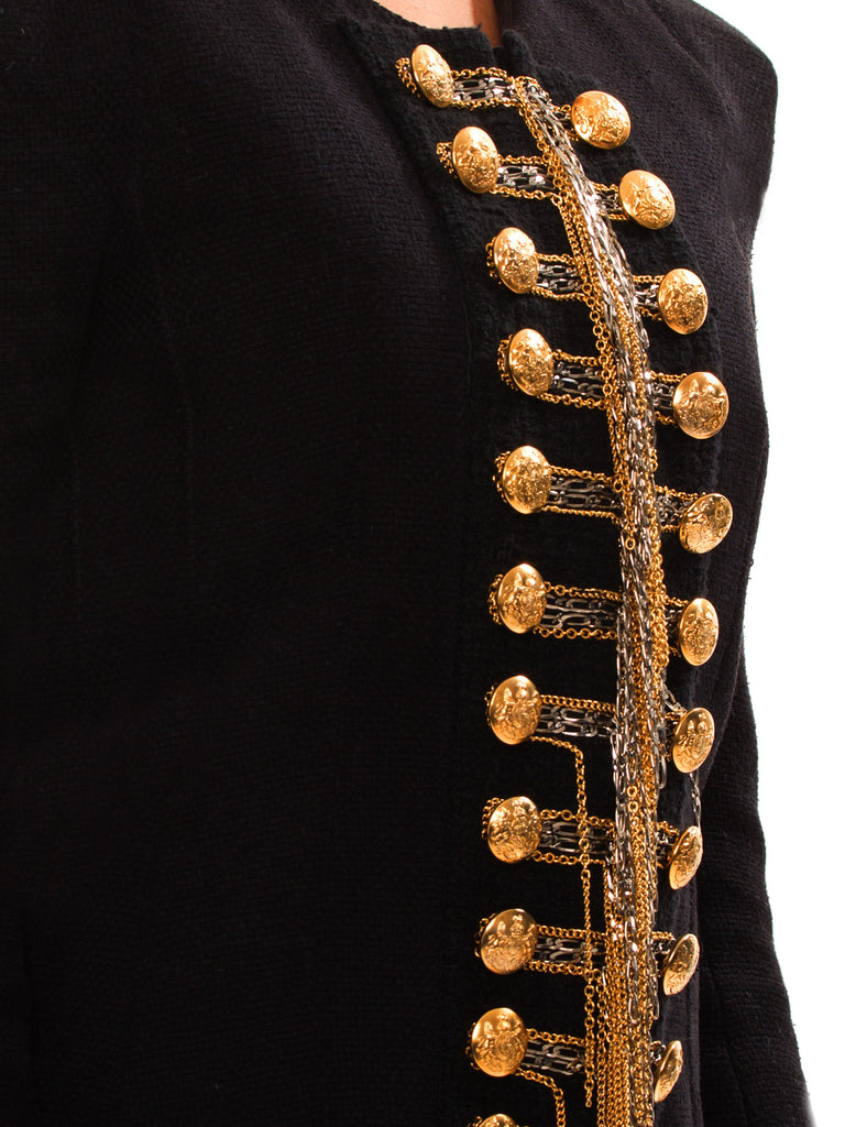 Balmain Black Embroidered Jacket Jacket Balmain - Shop authentic new pre-owned designer brands online at Re-Vogue