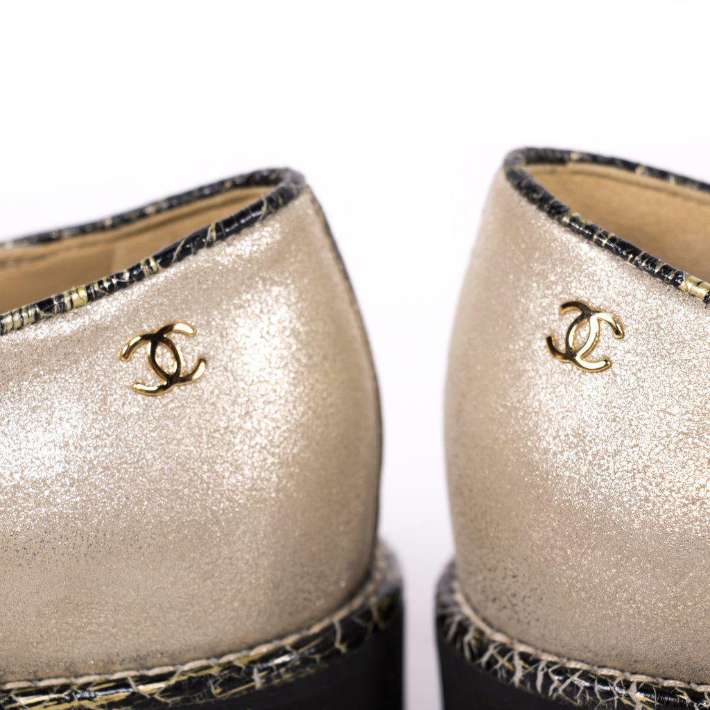 Chanel Lace Up Oxford Shoes Shoes Chanel - Shop authentic new pre-owned designer brands online at Re-Vogue