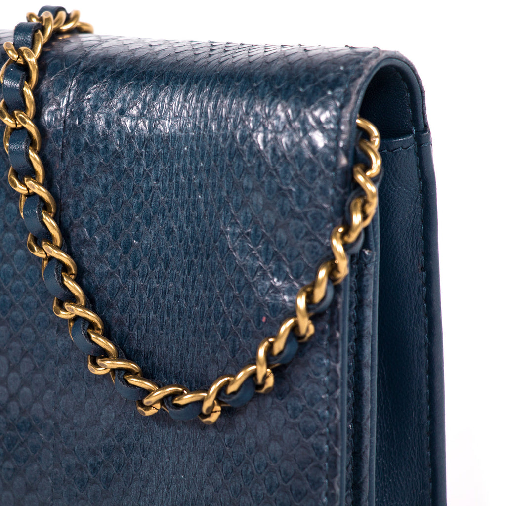 Chanel Python Wallet On Chain Bags Chanel - Shop authentic new pre-owned designer brands online at Re-Vogue