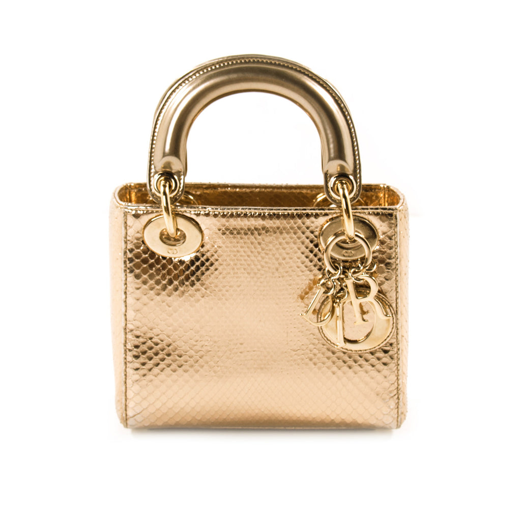 55c32680c548 Christian Dior Mini Lady Dior Python Bags Dior - Shop authentic new  pre-owned designer. Christian ...