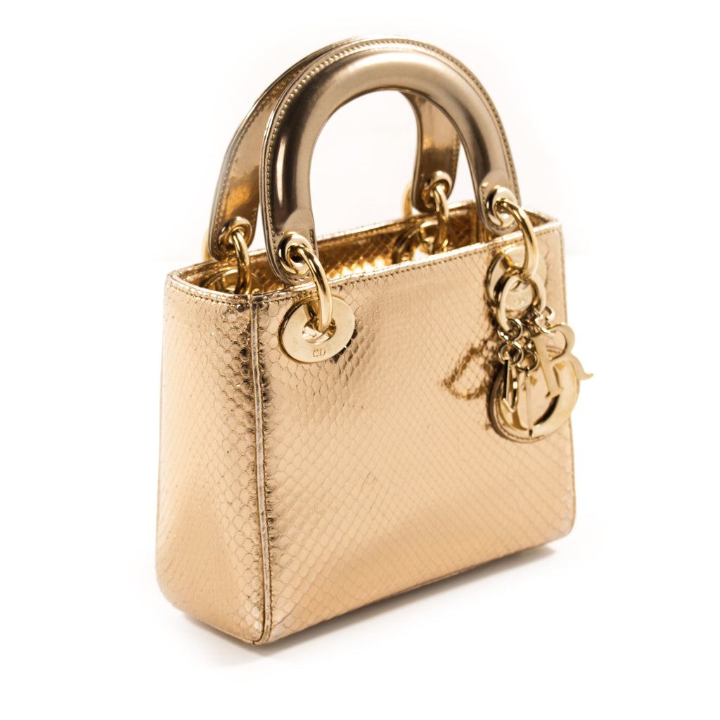 Christian Dior Mini Lady Dior Python Bags Dior - Shop authentic new pre-owned designer brands online at Re-Vogue