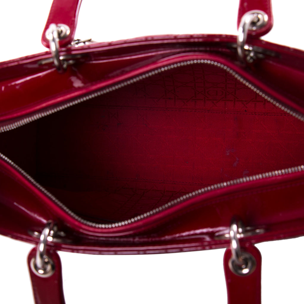 Christian Dior Large Patent Lady Dior Bags Dior - Shop authentic new pre-owned designer brands online at Re-Vogue