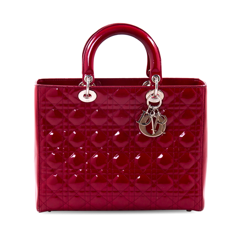 c08a3acc0a4a Christian Dior Large Patent Lady Dior Bags Dior - Shop authentic new  pre-owned designer. Christian ...