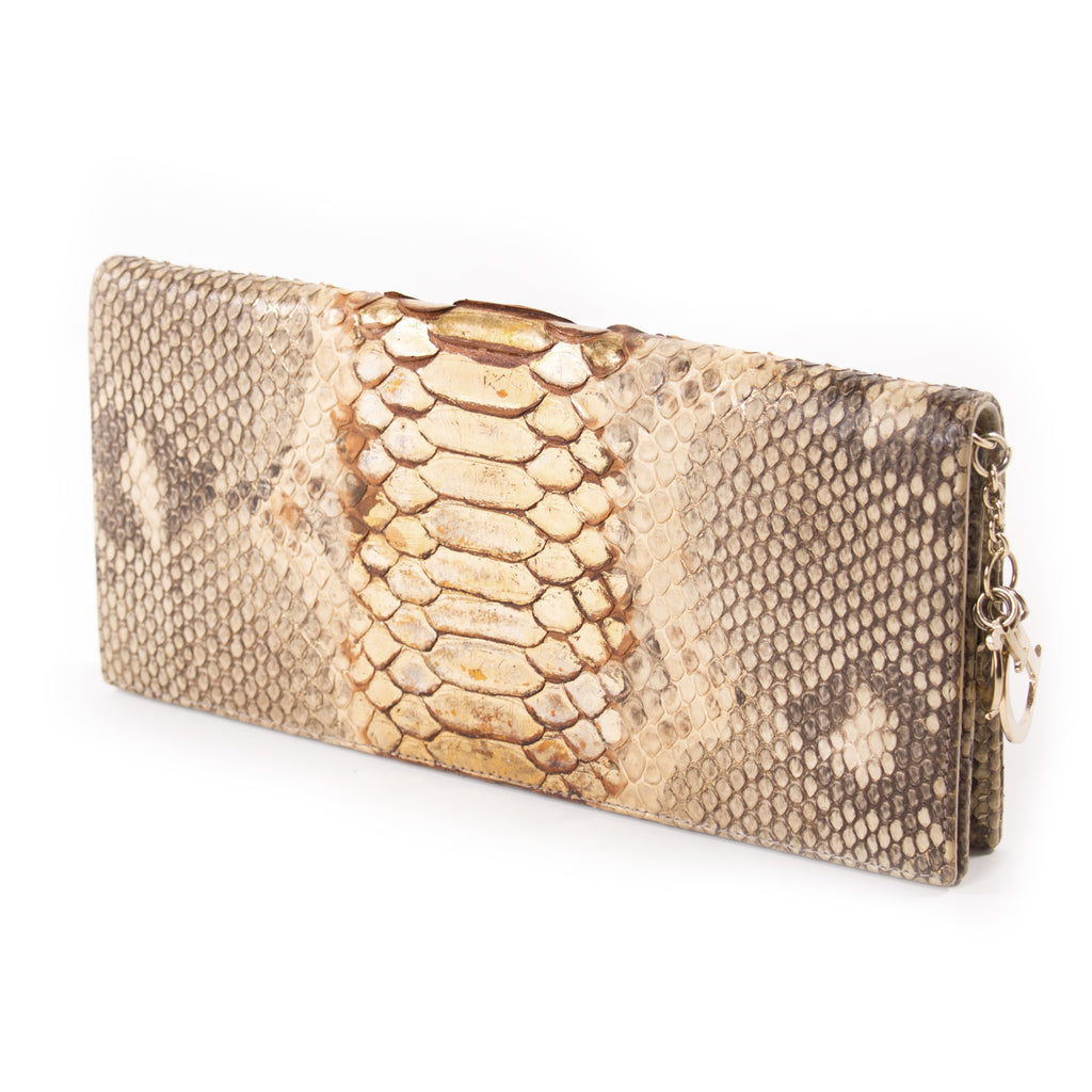 Pre-owned - Python clutch bag Dior