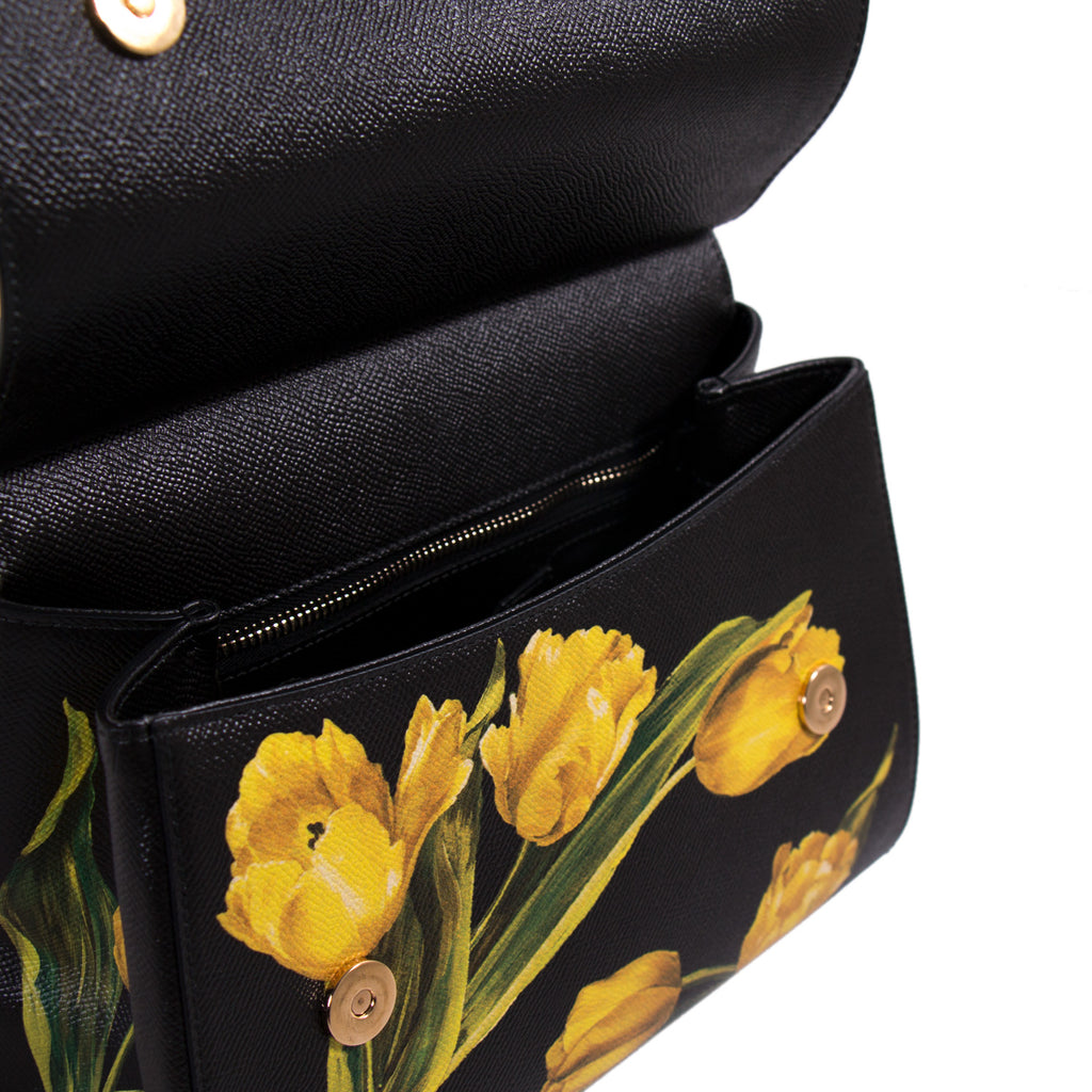 Dolce & Gabbana Tulip Prints Sicily Bag Bags Dolce & Gabbana - Shop authentic new pre-owned designer brands online at Re-Vogue