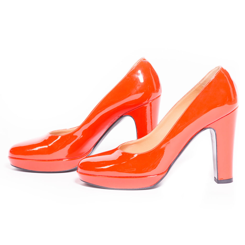 Hermes Red Leather Pumps - revogue