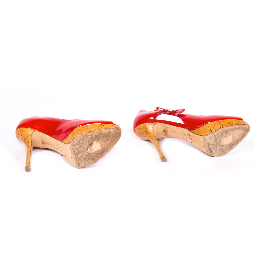 Christian Dior Peep Toe Pumps Shoes Dior - Shop authentic new pre-owned designer brands online at Re-Vogue
