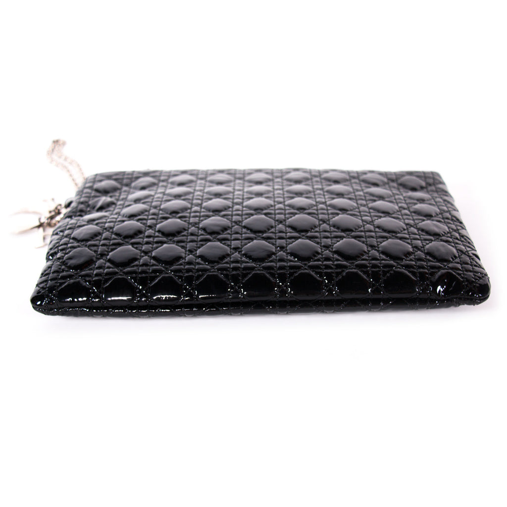 Christian Dior Cannage Patent Clutch Bag Bags Dior - Shop authentic new pre-owned designer brands online at Re-Vogue