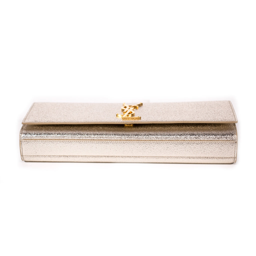 Saint Laurent Monogram Metallic Clutch Bags Yves Saint Laurent - Shop authentic new pre-owned designer brands online at Re-Vogue
