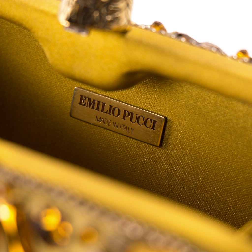 Emilio Pucci Embroidered Box Clutch Bags Emilio Pucci - Shop authentic new pre-owned designer brands online at Re-Vogue