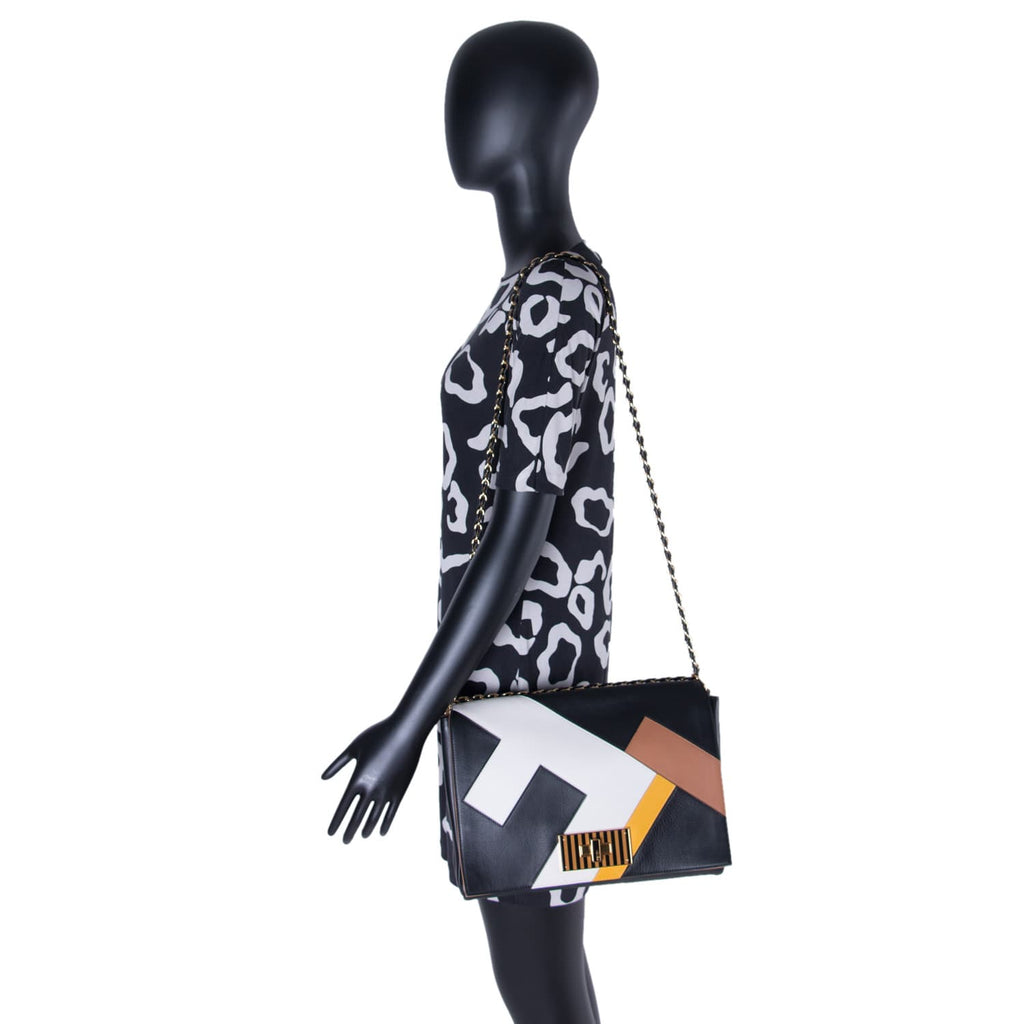 Fendi Pequin Claudia Large Flap Bags Fendi - Shop authentic new pre-owned designer brands online at Re-Vogue