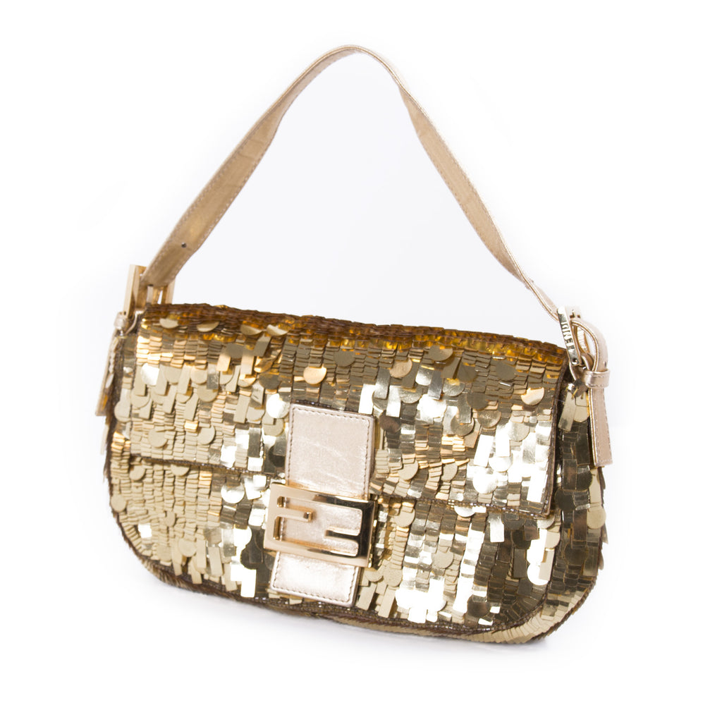 Fendi Gold Sequin Baguette Bags Fendi - Shop authentic new pre-owned designer brands online at Re-Vogue