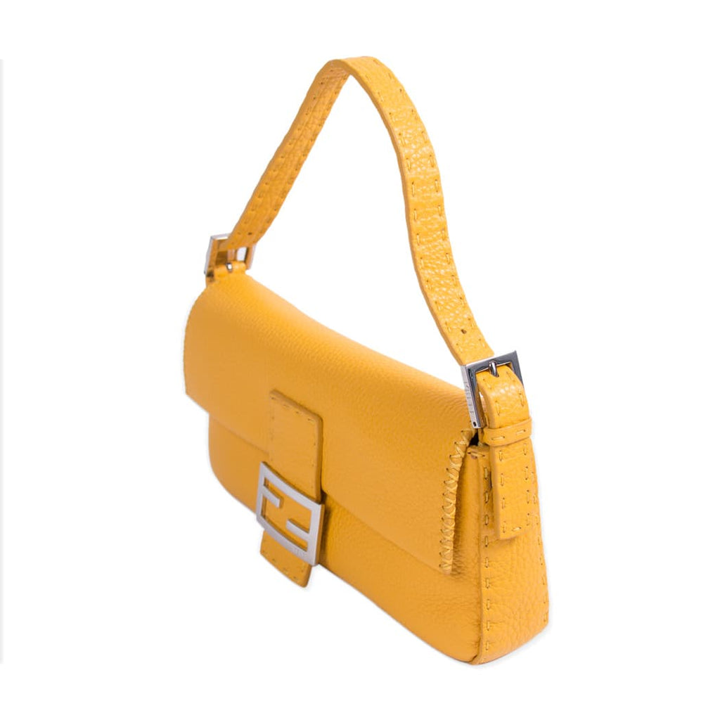 Fendi Mini Leather Baguette Shoulder Bag Bags Fendi - Shop authentic new pre-owned designer brands online at Re-Vogue